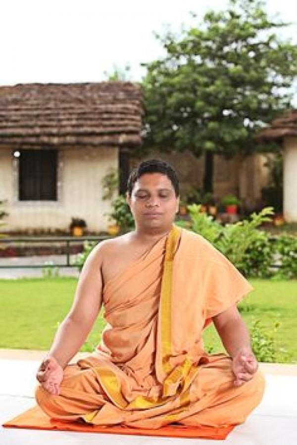 Acharya Balkrishan with Swami Ramdev